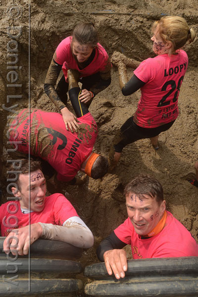 # MUDDER GENERALS # 02/05/15. METRO FEATURES : TOUGH MUDDER. PICTURE SHOWS THE TOUGH MUDDER CHALLENGE, HENLEY-ON-THAMES. Credit: Daniel Lynch. 07941 594 556. www.lynchpix.co.uk