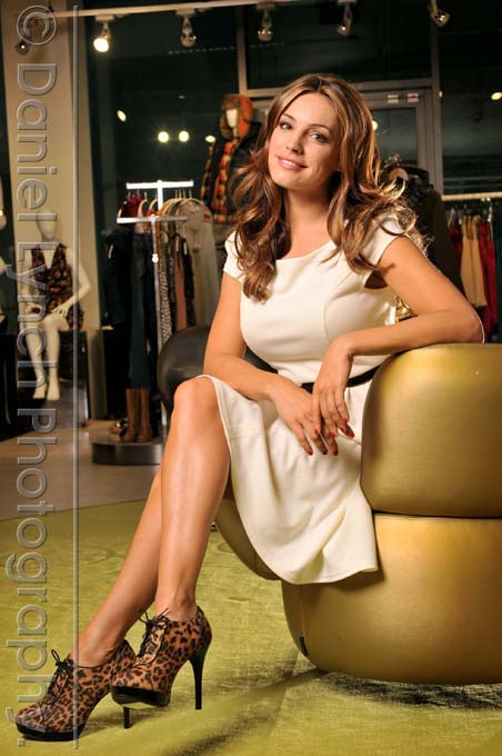 Model, actress & presenter Kelly Brook photographed at the offices of high-street retailers 'New Look' for whom she has a successful swimwear range, Oxford Street, London. CREDIT: DANIEL LYNCH. 07941 594 556 http://www.lynchpix.co.uk